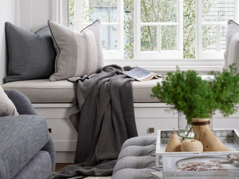 Windowseats with draws Navy House featured in House and Garden Magazine