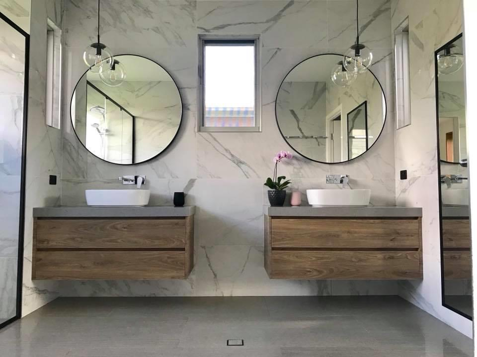 his and hers bathroom renovation