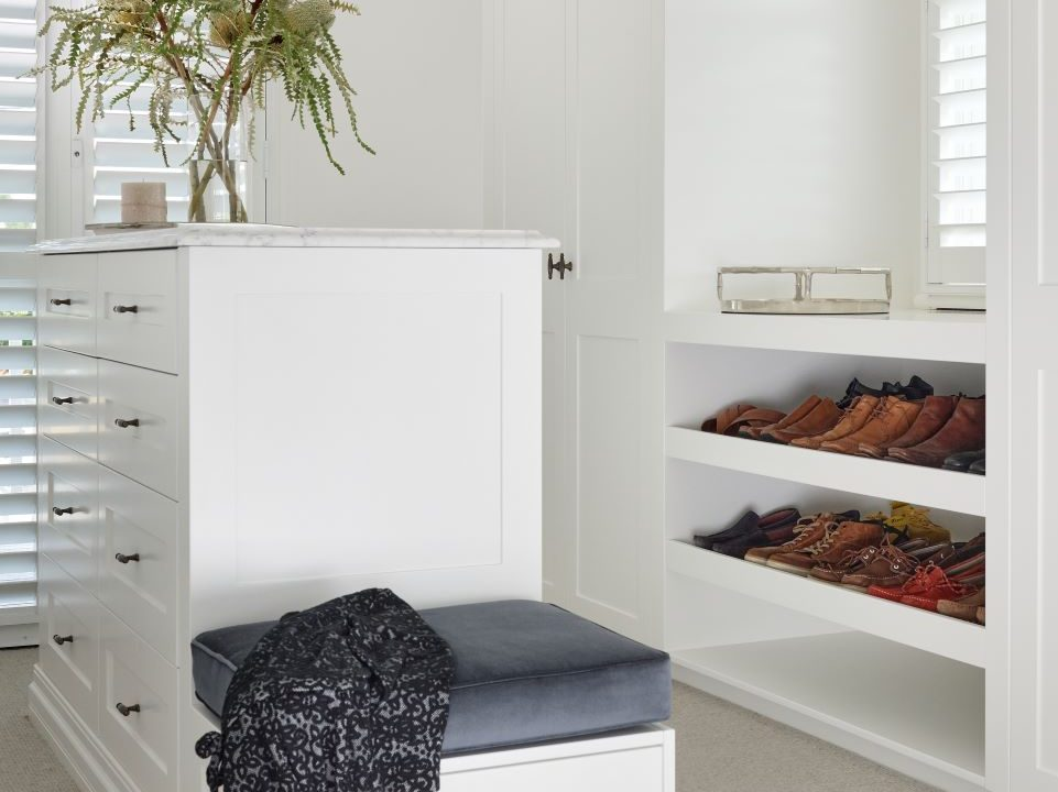 walk in wardrobe featured in July house and garden magazine
